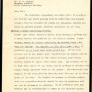 Letter from Bernhard Buesken to Dr. S.F. Oliver, Surgeon General, Crystal City ...