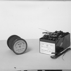 Electrical fuzzes and connecting wire, California Cap Company. [negative]