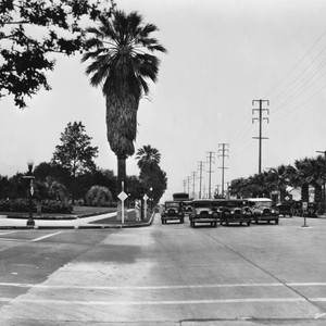 Busy intersection, Beverly Hills