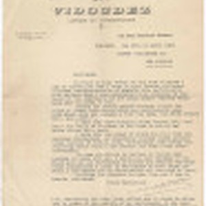 Letter from Vidoudez to Zarvah Publishing Co., April 20, 1934