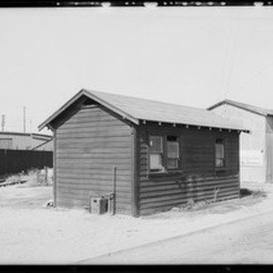 Oil still and building, Southern California, 1932