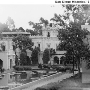 View of the Lily Pond looking toward the House of Hospitality during ...