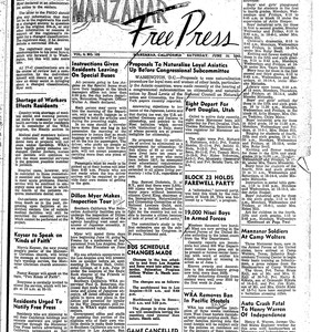 Manzanar free press, June 16, 1945
