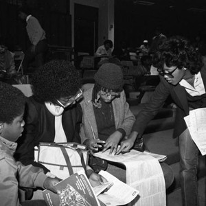 Financial Aid Workshop at L.A. High School, Los Angeles, 1983