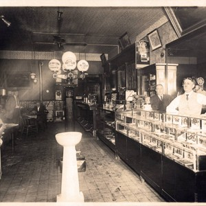 Interior of unknown cigar store
