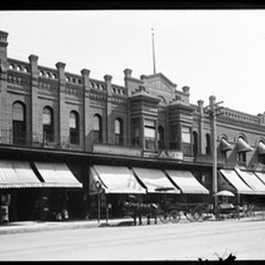 Exterior view of the Weill Block in Bakersfield, ca.1900