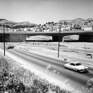 [Alemany Boulevard at Mission Street viaduct looking NW, 1963]