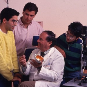 Dr. Keates with students.