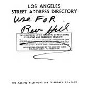 Los Angeles Street Address Directory, 1960, March