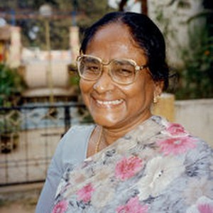 Edna Chandrasekharan, India, on a visit in 1997