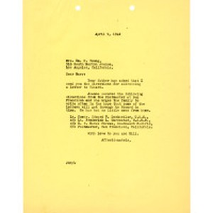 Letter to Mrs. Wm. K. Young, April 9, 1942