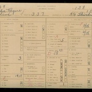 WPA household census for 337 S OLIVE, Los Angeles