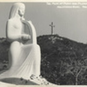 The Muse of Music and Pilgrimage Play Cross, Hollywood Bowl, Hollywood, Cal. ...