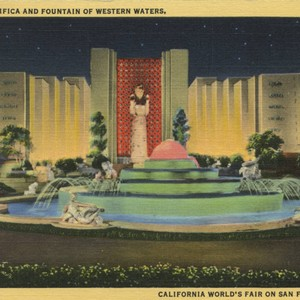 Court of Pacifica and Fountain of Western Waters, California World's Fair on ...