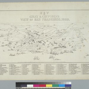 Key to Gray and Gifford's view of San Francisco [California], 1869