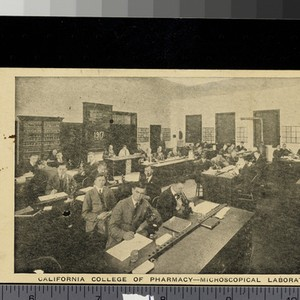 California College of Pharmacy, microscopical lab, 1917