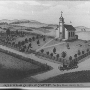 Presbyterian Church and Cemetery, Two Rock Valley, Sonoma Co., Cal