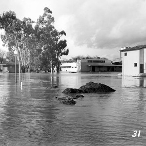 1952 Flooded grounds at Agnews State Hospital