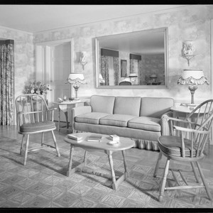 Parsons, Louella, residence. Living room