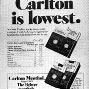 In either length--King or 100's Carlton is lowest