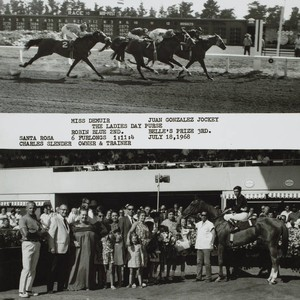 Photo finish and Winner's Circle for the Ladies Day Purse at the ...