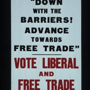 "Sir Archibald Sinclair says: ""Down with the barriers! Advance towards free trade."" ..."