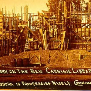 Work on the new Carnegie Library