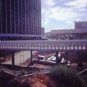Views of the Holiday Inn Hotel downtown under construction at 4th and ...