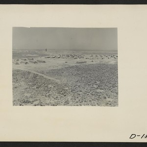 Eden, Idaho--A panorama view of the Minidoka War Relocation Authority center. This ...
