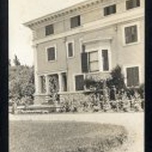 Rear view of Sarah Winchester [Atherton?] house
