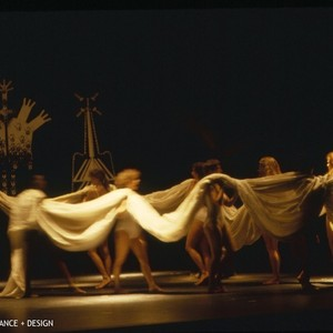 "Female dancers in a performance of Anna Halprin's ""In the Mountain On ..."