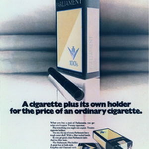 A cigarette plus its own holder for the price of an ordinary ...