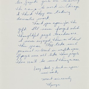 Letter from Mizuye [Hirose] to [Afton] Nance, 1943 Aug 13