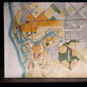 Architectural plans, area planning study of campus and region