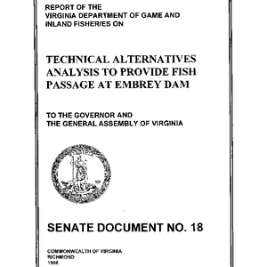 Technical Alternatives Analysis to Provide Fish Passage at Embrey Dam