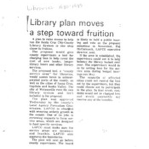 Library plan moves a step toward fruition