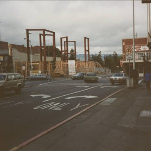 Construction of the building at 100 Petaluma Boulevard North, Petaluma, California, about ...