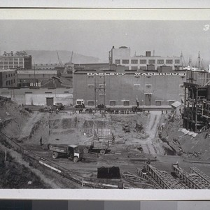 Excavation, Rincon Anchorage, San Francisco; Pier 1, San Francisco Viaduct, Pier #B, ...