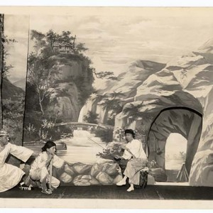 Ree figures in a landscape setting, staged at the Great China Theatre ...