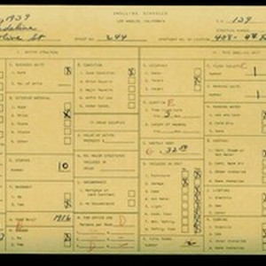 WPA household census for 244 S OLIVE STREET, Los Angeles