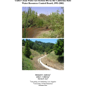 An evaluation of compensatory mitigation projects permitted under Clean Water Act Section ...