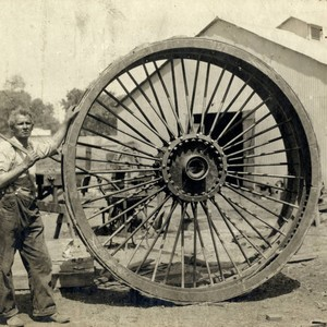 Smith and Curry first tractor wheel