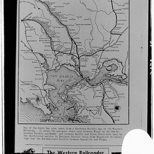 Map of the North Bay area taken from a Southern Pacific map ...