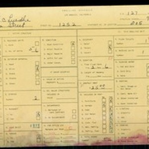 WPA household census for 1252 S LAKE STREET, Los Angeles