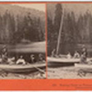 Boating party on Donner Lake, between eastern and western summits, 128