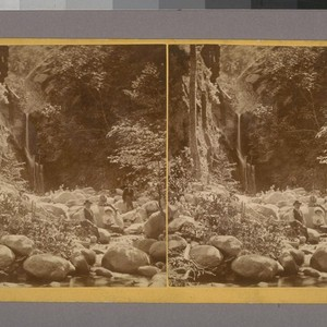 [Group of people at foot of waterfall]--Photographer: T. G. Norton--Place of Publication: ...