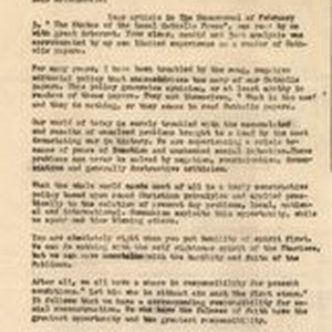 Mary J. Workman letter to Donald McDonald, February 23, 1950