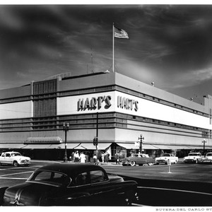 Exterior View of Hart's Department Store with Signature Signage