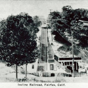 Manor Hill Incline Railroad, Fairfax, Marin County, California, circa 1925 [photograph]