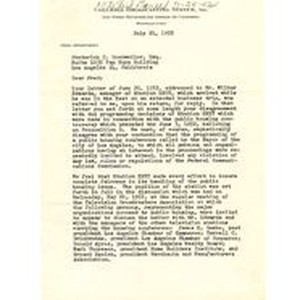 Letter from Ned Marr to Frederick C. Dockweiler, July 21, 1952